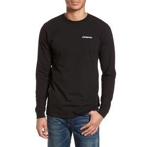 Patagonia men's Capilene black long sleeve shirt
